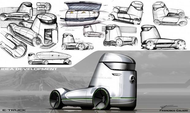 Ezber bozan Mercedes-Benz E-truck konsepti - Page 3
