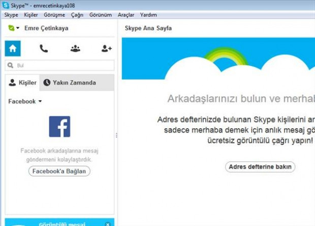 Facebook hesabını, Skype'a bağlama - Page 2
