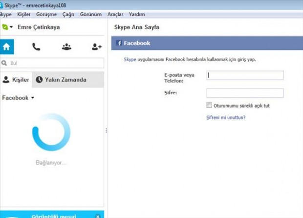 Facebook hesabını, Skype'a bağlama - Page 3