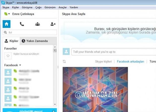 Facebook hesabını, Skype'a bağlama - Page 4