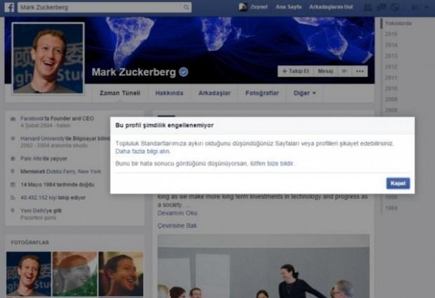 Facebook'ta Mark Zuckerberg'i engellemek istedi ve... - Page 1
