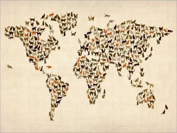 Farklı şekillerde dünya haritaları - Page 4