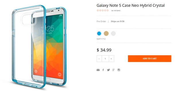 Galaxy Note 5 için kılıflar piyasaya çıktı - Page 1