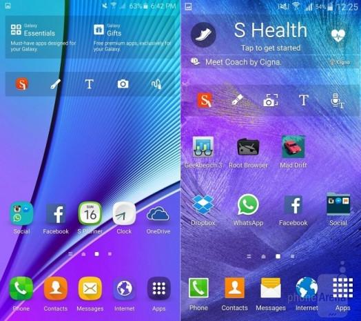 Galaxy Note 5 ve Galaxy Note 4'ün arayüzü karşılaştırıldı - Page 1