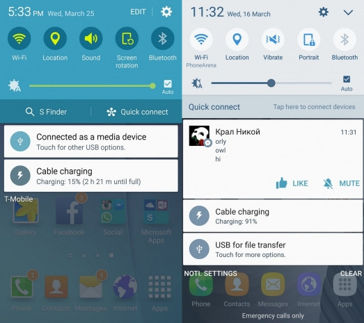 Galaxy S6 Android Lollipop ve  Marshmallow karşılaştırma - Page 3