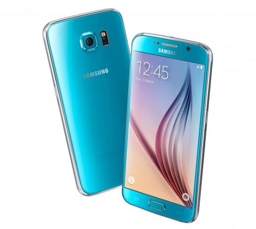 Samsung Galaxy S6, Mavi Topaz.