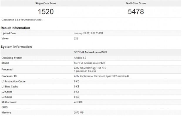 Galaxy S6'nın işlemci birimi Exynos 7420 kriter testinde ortaya çıktı - Page 1