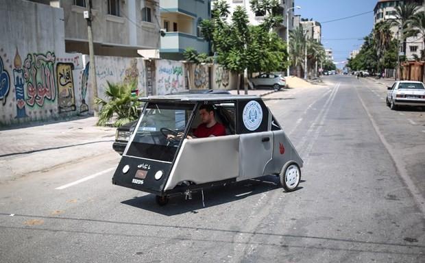 Gazze'de güneş enerjisiyle çalışan araç üretildi - Page 2