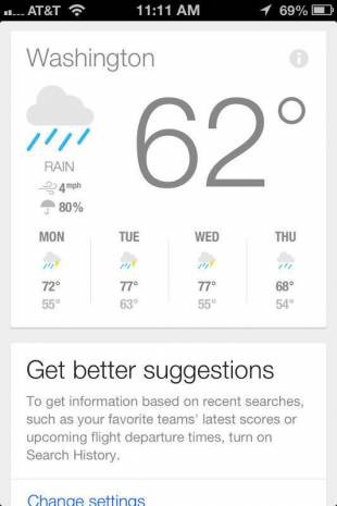 Google Now iOS uygulaması ekran görüntüleri - Page 4