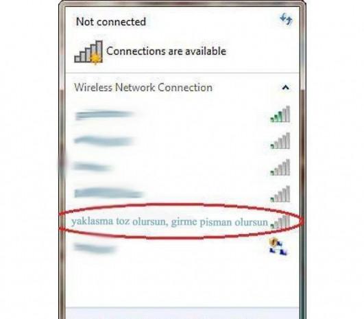Gülme krizine sokan Wifi isimleri - Page 1