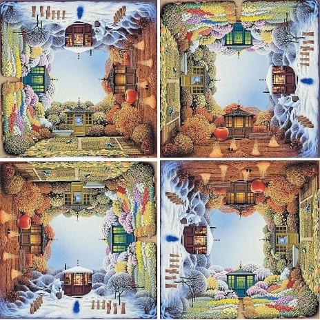 Her döndürüldüğünde size farklı manzaralar sunan 5 sürreal resim - Page 1
