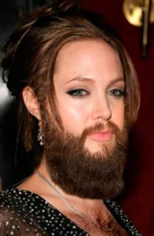Hollywood güzellerinin sakallı halleri! - Page 1