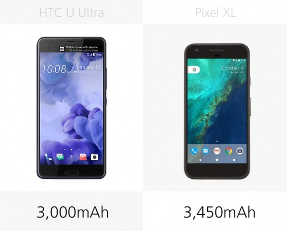 HTC U Ultra ve Google Piksel XL karşılaştırma - Page 1