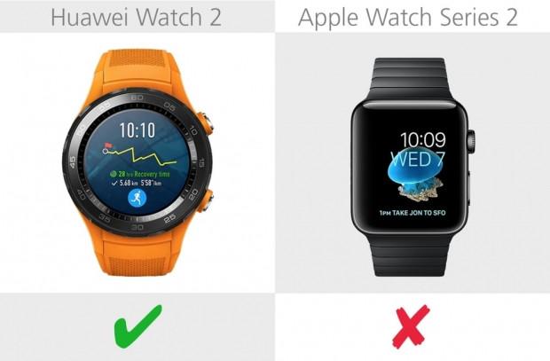 Huawei Watch 2 ve Apple Watch Series 2 karşılaştırma - Page 1