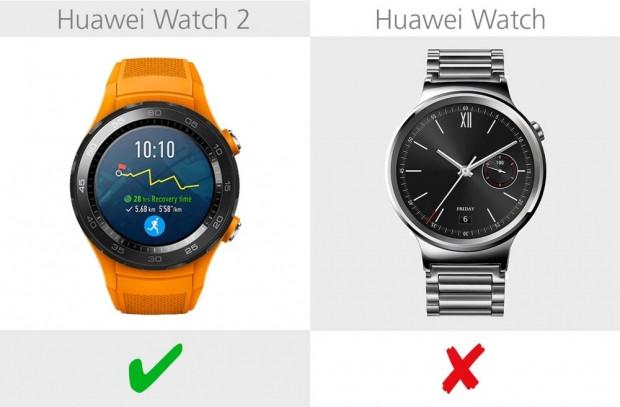 Huawei Watch 2 ve Huawei Watch karşılaştırma - Page 1