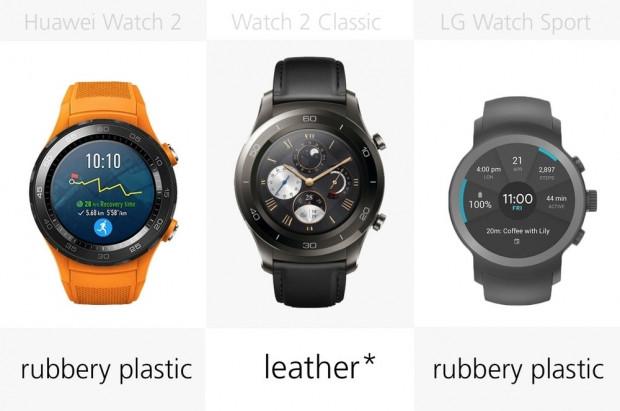 Huawei Watch 2 ve LG Watch Sport karşılaştırma - Page 1