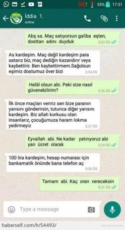 İddaa dolandırıcısı, WhatsApp'ta imana geldi! - Page 1
