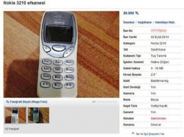 İkinci el araba fiyatına satılan eski telefonlar - Page 1