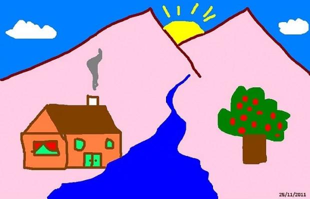İlkokulda resim dersinde çizilen bahçe içindeki Ev ile ilgili 11 bilgi - Page 1