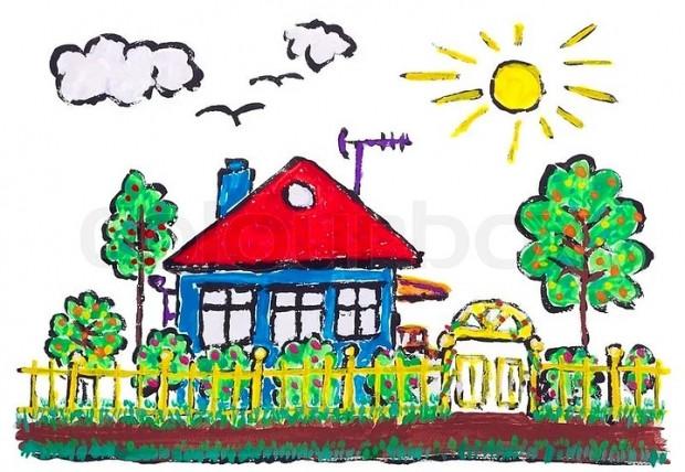 İlkokulda resim dersinde çizilen bahçe içindeki Ev ile ilgili 11 bilgi - Page 4