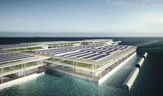 İnsanlığın geleceğini kurtarabilecek buluş: Yılda 8 ton üretim yapan yüzen çiftlik - Page 1