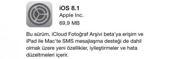 iOS 8'in ilk büyük güncellemesi olan 8.1 yayınlandı - Page 2