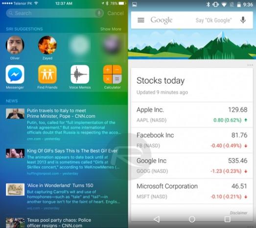 iOS 9 - Android M karşılaştırması - Page 3