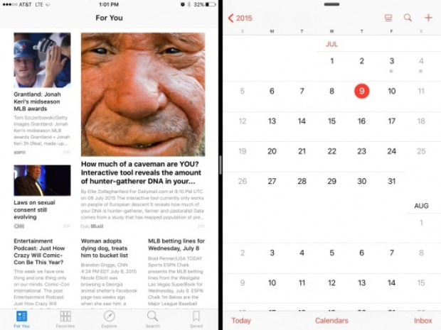 iOS 9 ekran görüntüleri - Page 1