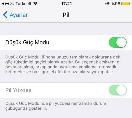 iOS 9'da pil ömrünüzü nasıl arttırabilirsiniz - Page 1