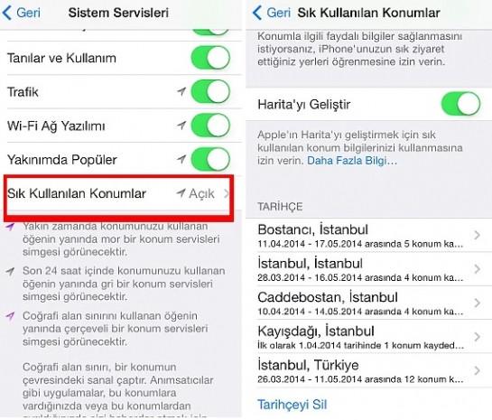 """iPhone'un gizli, şaşırtıcı ve """"ürkütücü"""" özelliği: Sık kullanılan konumlar! - Page 3"""