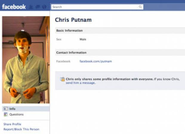 Chris Putnam got hired by Facebook in 2006 when he hacked the site and