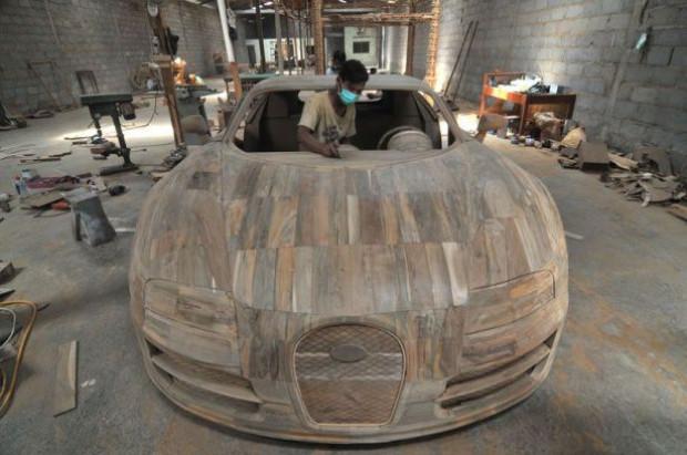 İşte kare kere ağaçtan Bugatti yapılışı - Page 1