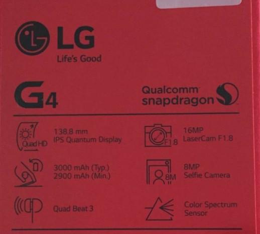 İşte LG G4'ün kutu içeriği - Page 1