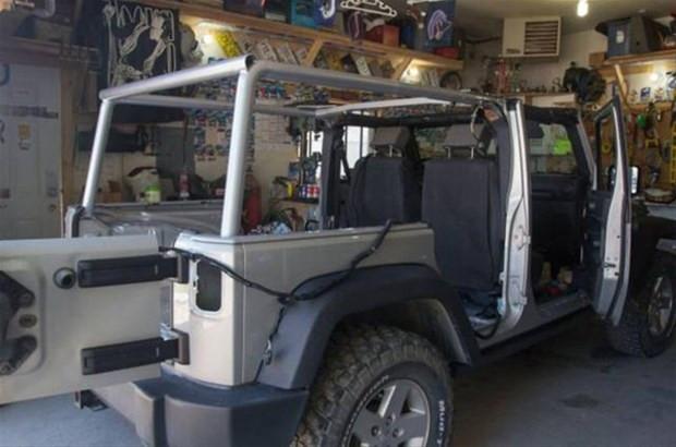 Jeep Wrangler model aracını muhteşem bir eve çevirdi - Page 1