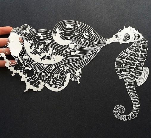 Kağıtları kullanarak sanatını İcra eden hanımın birbirinden güzel 16 çalışması - Page 1