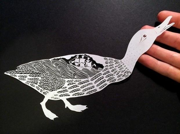 Kağıtları kullanarak sanatını İcra eden hanımın birbirinden güzel 16 çalışması - Page 3