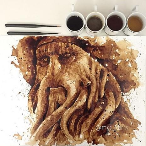 Kahve ile çizilen muhteşem resimler - Page 1