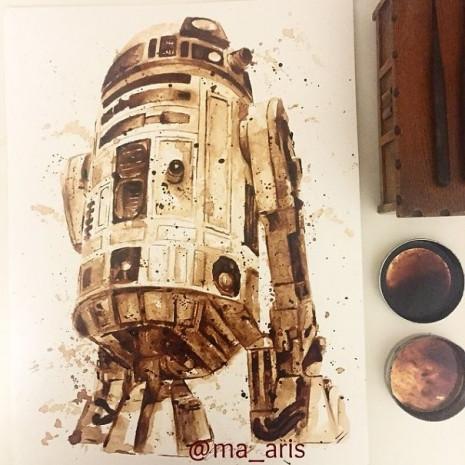 Kahve ile çizilen muhteşem resimler - Page 2