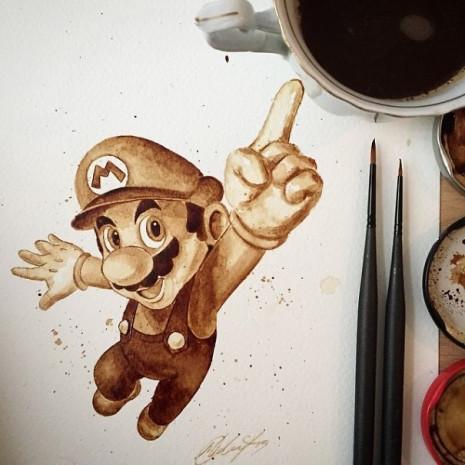 Kahve ile çizilen muhteşem resimler - Page 4