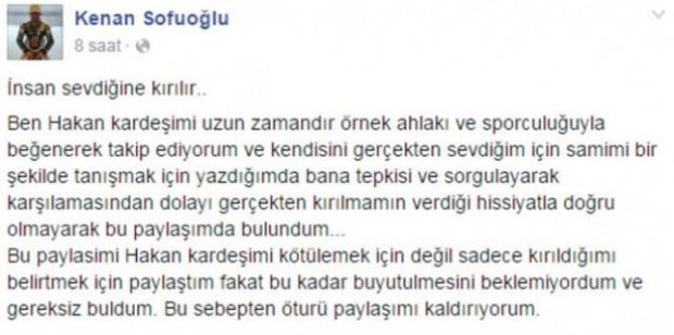 Kenan Sofuoğlu - Hakan Çalhanoğlu capsleri patladı! - Page 1