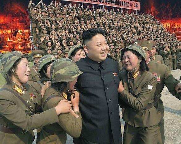 Kim Jong Un'un kadın askerlerle çekilen fotosuyla ilgili yapılmış en komik 17 Photoshop çalışması - Page 3