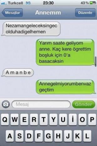 Komik telefon mesajları,çok güleceksiniz! - Page 1