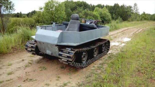 Kullanılmayan malzemelerden tank yaptı - Page 1