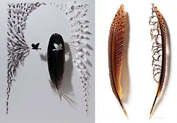 Kuş tüyünden yapılmış yükte hafif sanatta ağır muazzam eserler - Page 2