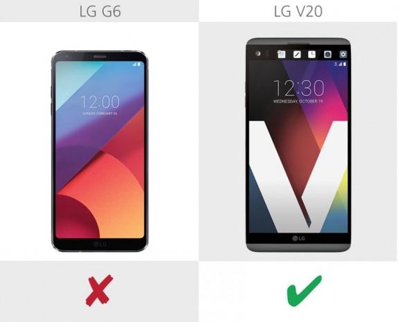 LG G6 ve LG V20 karşılaştırma - Page 1
