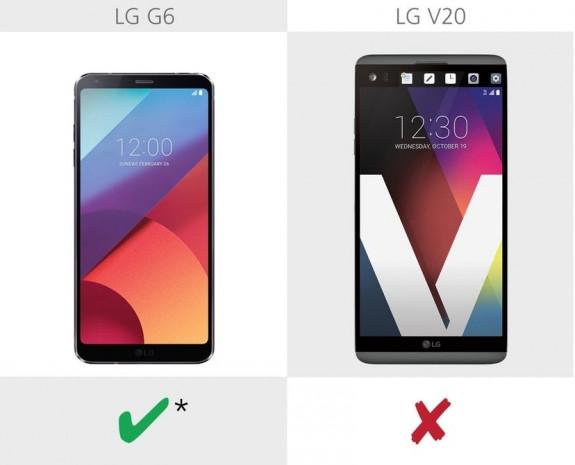 LG G6 ve LG V20 karşılaştırma - Page 2