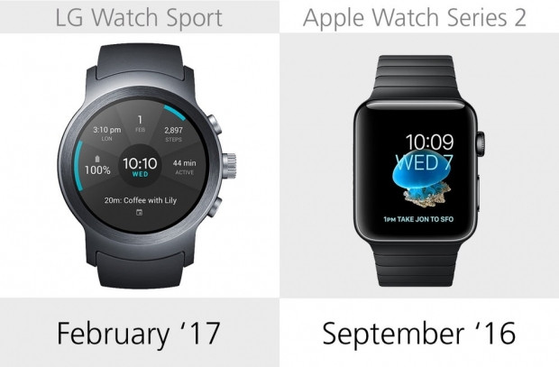 LG Watch Sport ve Apple Watch Series 2 karşılaştırma - Page 1