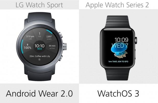LG Watch Sport ve Apple Watch Series 2 karşılaştırma - Page 2