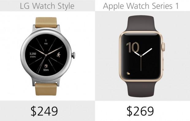 LG Watch Style ve Apple Watch Series 1 karşılaştırma - Page 1