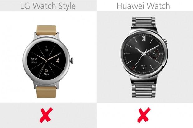 LG Watch Style ve Huawei Watch karşılaştırma - Page 1